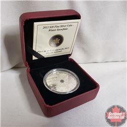 RCM 2013 $20 Fine Silver Coin - Winter Snowflake (99.99%)