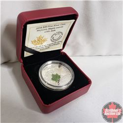 RCM 2014 $20 Fine Silver Coin Majestic Maple Leaves with Jade (99.99%)