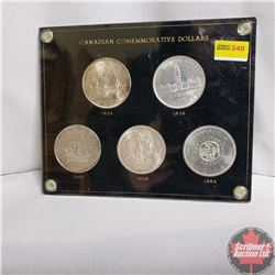Canadian Commemorative Dollar Set (1935; 1939; 1949; 1958; 1964)