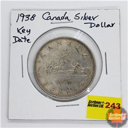 Canada Silver Dollar 1938