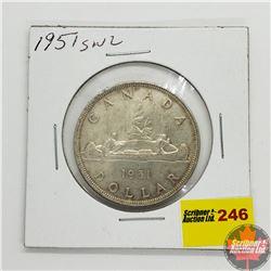 Canada Silver Dollar 1951SWL