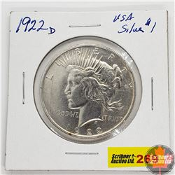 US Peace Dollar 1922D