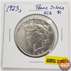 US Peace Dollar 1923S