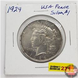 US Peace Dollar 1924