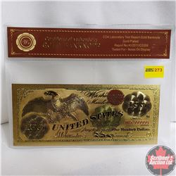 Novelty US $100 Gold Plated Bank Note