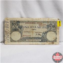 1946 Romania 100,000 Lei Note