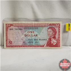 1965 East Caribbean $1 Note, Variety 2