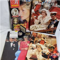 June 1983 Charles & Diana Commemorative Coin & 4 Wedding/Tour Magazines