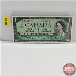 Canada $1 Bill 1967 (Beattie/Rasminsky) HP2847020