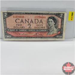 Canada $2 Bill 1954 (Lawson/Bouey) VG1234444