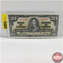 Canada $20 Bill 1937 (Coyne/Towers) JE1315745
