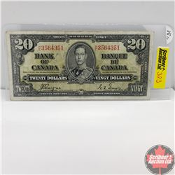 Canada $20 Bill 1937 (Coyne/Towers) HE3564351