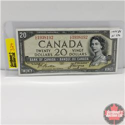 Canada $20 Bill 1954 Devil's Face (Beattie/Coyne) EE1938192
