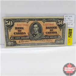 Canada $50 Bill 1937 Changeover (Gordon/Towers) BH2272442