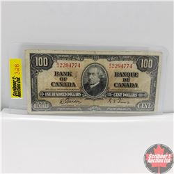 Canada $100 Bill 1937 (Gordon/Towers) BJ2294774