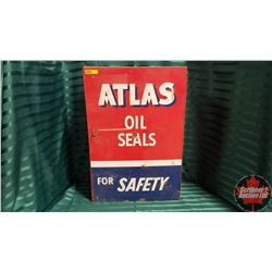"Metal Shop Cabinet ""ATLAS Oil Seals"" (22""H  x 15""W x 5""D)"