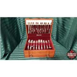Heritage Silversmiths Silverware Set with Case (12 Place Setting)