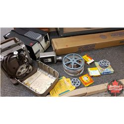 Collector Combo: 8mm Projector & Camera & Slide Projector & Portable Screen