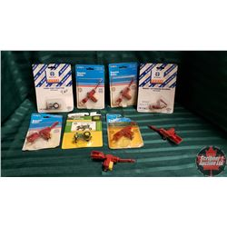 Tray Lot : 9 Farm Toys 1/64 Scale (Variety : John Deere, New Holland, etc)