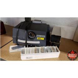 Sprite 25 Slide Projector w/Slides