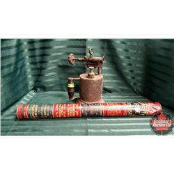 Vintage Blow Torch & Liberty Fire Extinguisher
