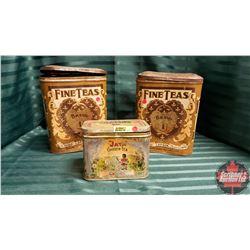 Variety Tea Tins (3)