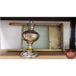 Aladdin No 5 Coal Oil Lamp & Economy Washboard