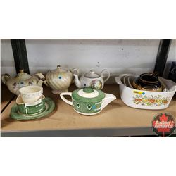 5 Teapots & Corningware Group