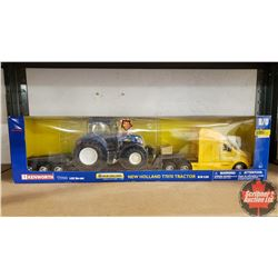 Farm Toy : New Holland T7070 Tractor (1/24th Scale) & Kenworth T700 (1/32 Scale)
