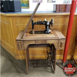 "Treadle Sewing Machine ""Reliance"" (Notions in Drawers)"
