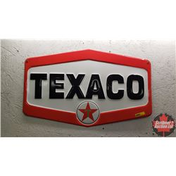 "Tin Texaco Sign (Single Sided) Embossed (15""H x 24""W)"