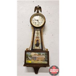 "Seth Thomas Banjo Clock ""Jefferson Monticello"""