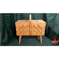 Wooden Sewing Box Cantilever