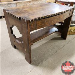 """Oak Desk (30""""H x 45""""L x 30""""W)"""