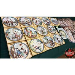Imperial Jingdezhen Porcelain Collector Plates - Collection of 13
