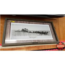"Framed Print ""32 Horse Team"" (12"" x 24"")"