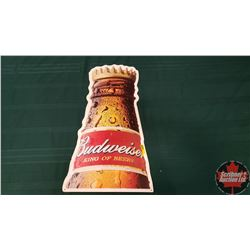 "Single Sided Tin Sign ""Budweiser King of Beers"" (27"" x 14"") Embossed"