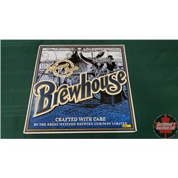 "Single Sided Tin Sign ""Brewhouse"" (24"" x 24"") Embossed"
