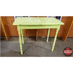 "Small Painted Side Table (30""H x 20""W x 36""L)"