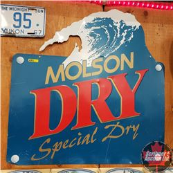 "Single Sided Tin Sign ""Molson Dry"" (30"" x 30"") Embossed"