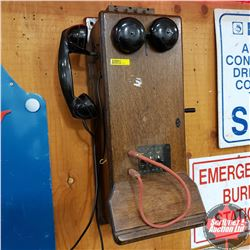 Wood Box Wall Mount Switchboard Telephone
