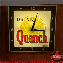 "Electric Light Up Wall Clock ""Drink Quench"" (16"" x 16"")"
