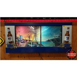 "Electric Scrolling Light Up Bar Sign ""Miller Light"" (18""H x 39""W x 4""D)"