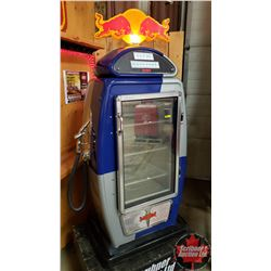 "Red Bull Fridge/Cooler - Light Up Top (In the Style of Gas Pump) (64""H x 28""W x 17""D)"
