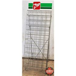 "7-Up Store Display Bottle Rack (44""H x 15""W)"