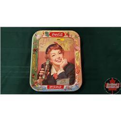 """Coca Cola Tray """"Menu/Girl"""" 1953-1956"""