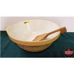 "COMBO: ""The Gripstand Mixing Bowl"" T.G. Green & Co. Ltd. Church Gresley Made in England & Wooden Pad"