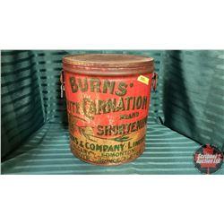 "Burns White Carnation Brand Shortening Tin (14""H x 12""Dia)"