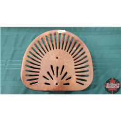 """Cast Iron Implement Seat """"Frost & Wood"""""""