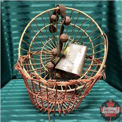 Egg Baskets (2), Cow Bell & Sleighbells